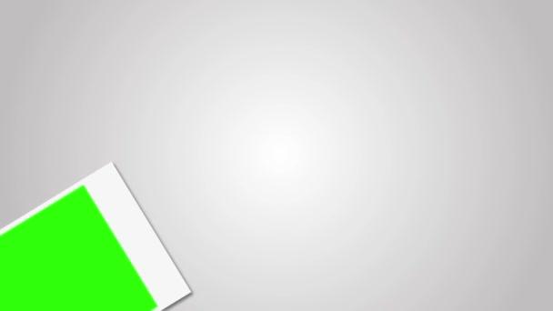 Polaroid keret zöld képernyő a 4k-fotó 3840 x 2160