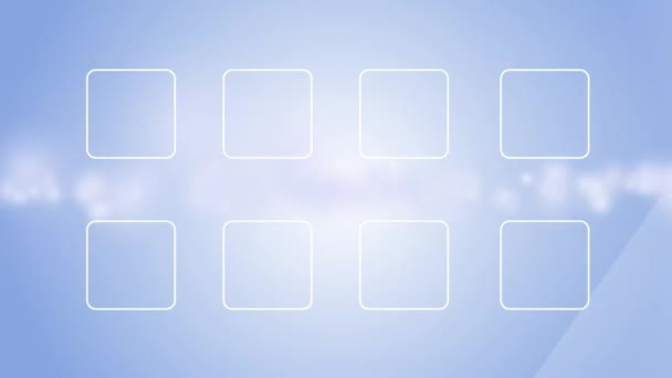 Ikony mobilní aplikace bezešvé pozadí smyčka 4k