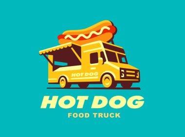 Hot dog. Food Truck concept . Vector illustration