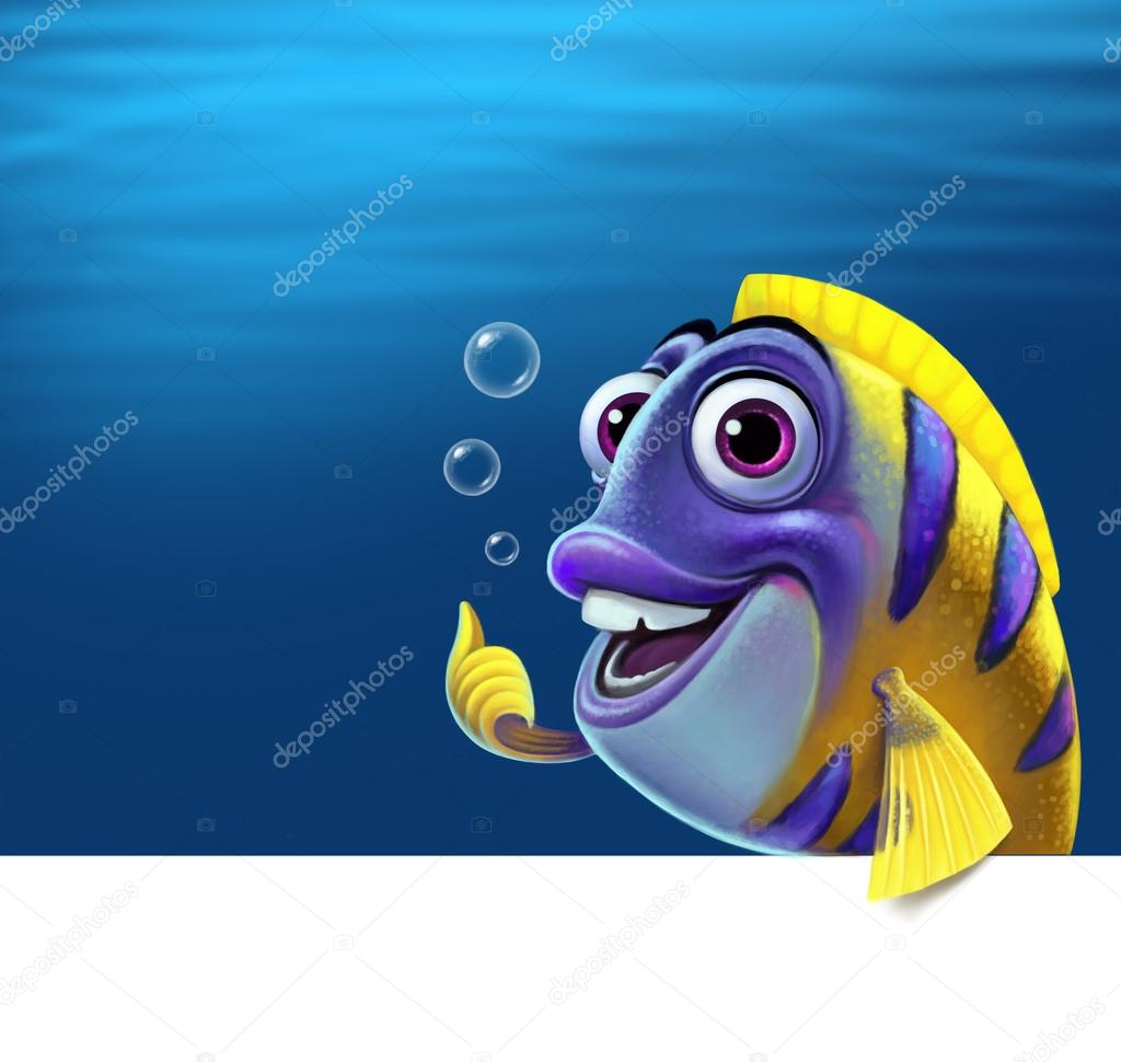Illustration of a funny fish.