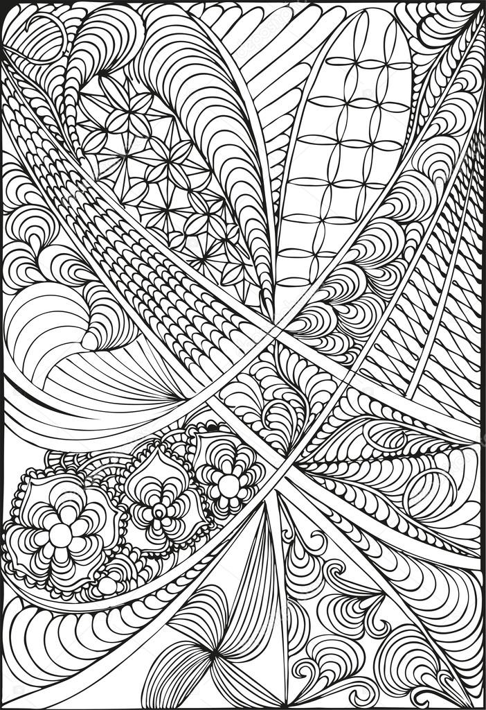 Abstract Coloring Book. Floral Design. ⬇ Vector Image By © Fellici Vector  Stock 114944476