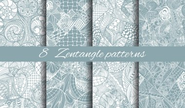 Zentangle abstract hand-drawn seamless pattern can be used for wallpaper, website background, textile printing clip art vector