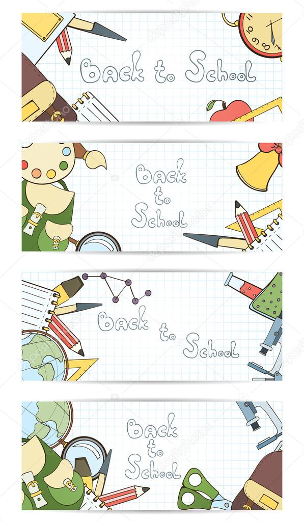 Back to school invitation card stock vector mespilia 119574498 back to school invitation card can be used for holiday cards shop invitation postcard or website banner vector by mespilia stopboris Choice Image