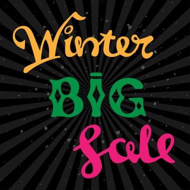 Winter big sale lettering