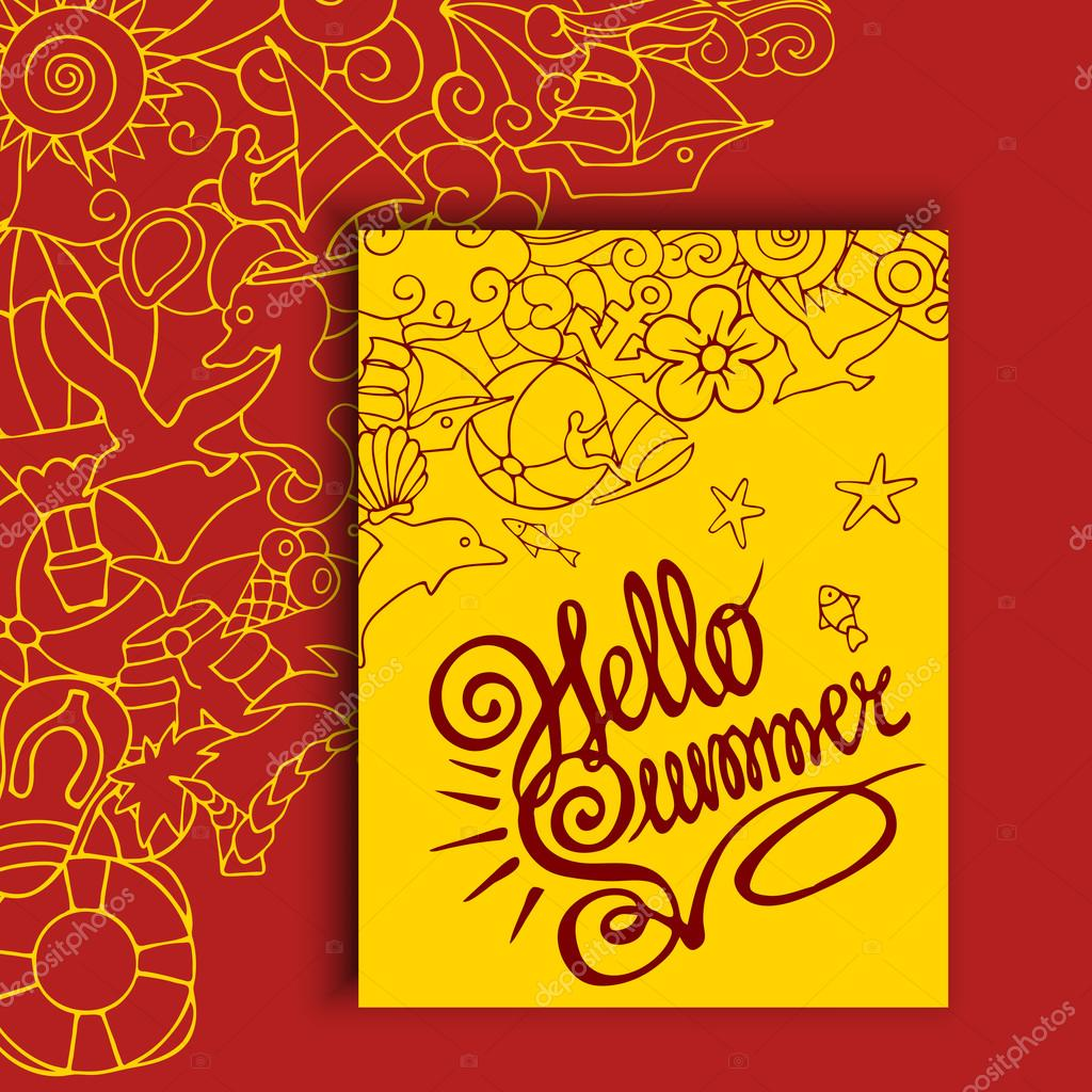bright summer and holiday card design ストックベクター