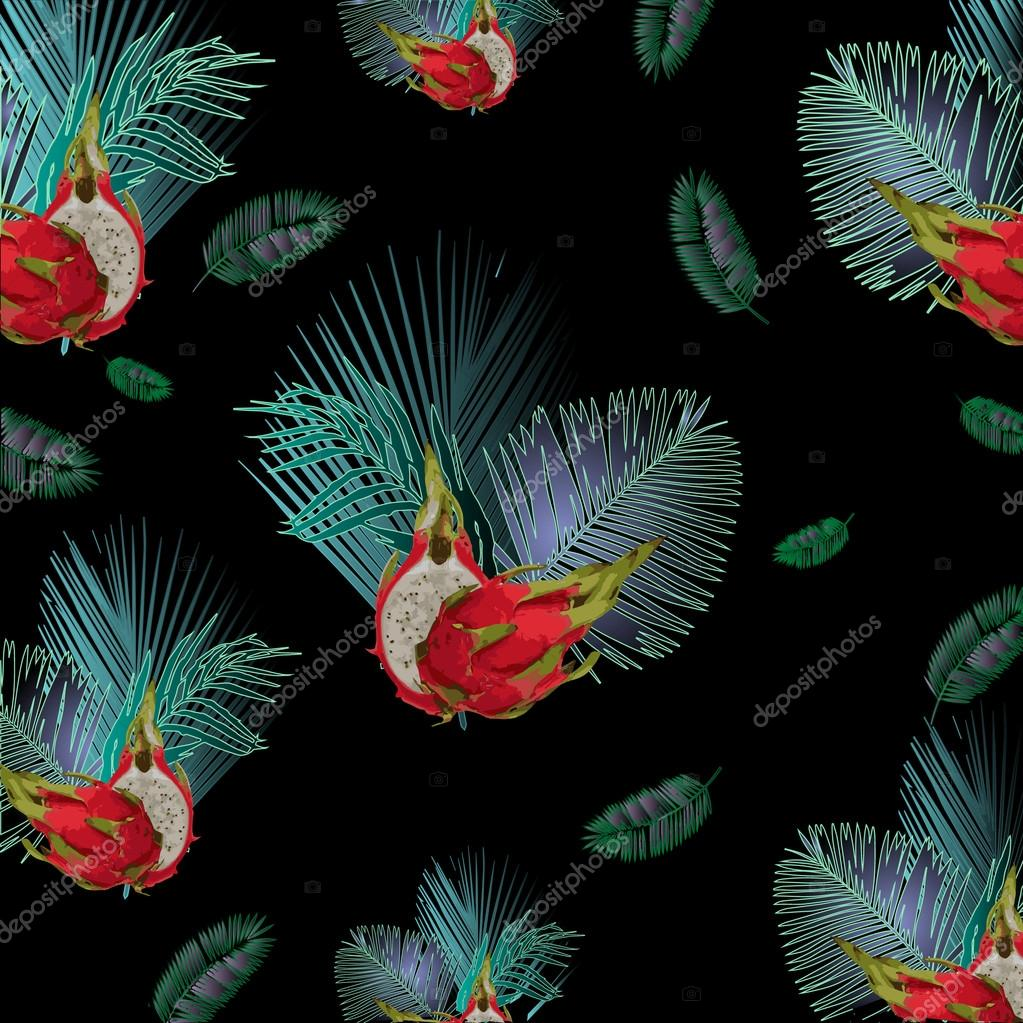 Pitahaya pattern for t-shirts.