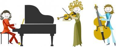Illustration of music and musician