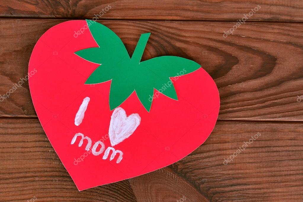Grusskarte Mit Text Liebe Ich Mama Stockfoto C Onlyzoia 112826968