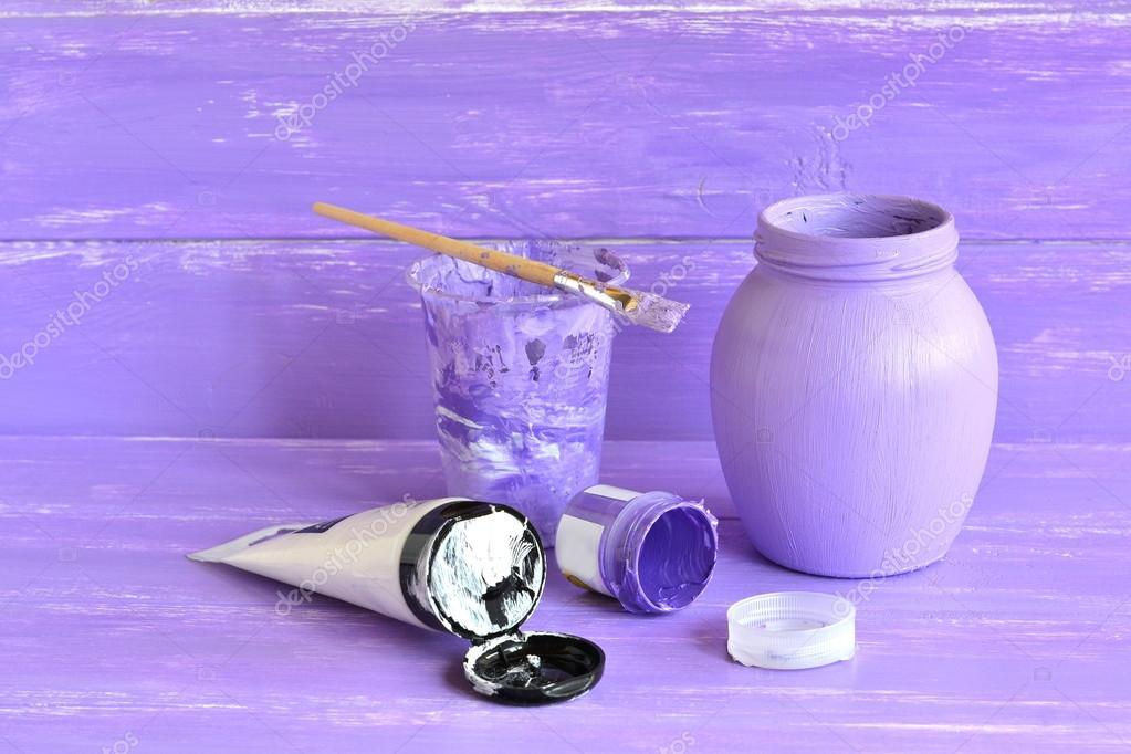 Bouteille Peint A La Main Comment Decorer Le Pot En Verre Ordinaire