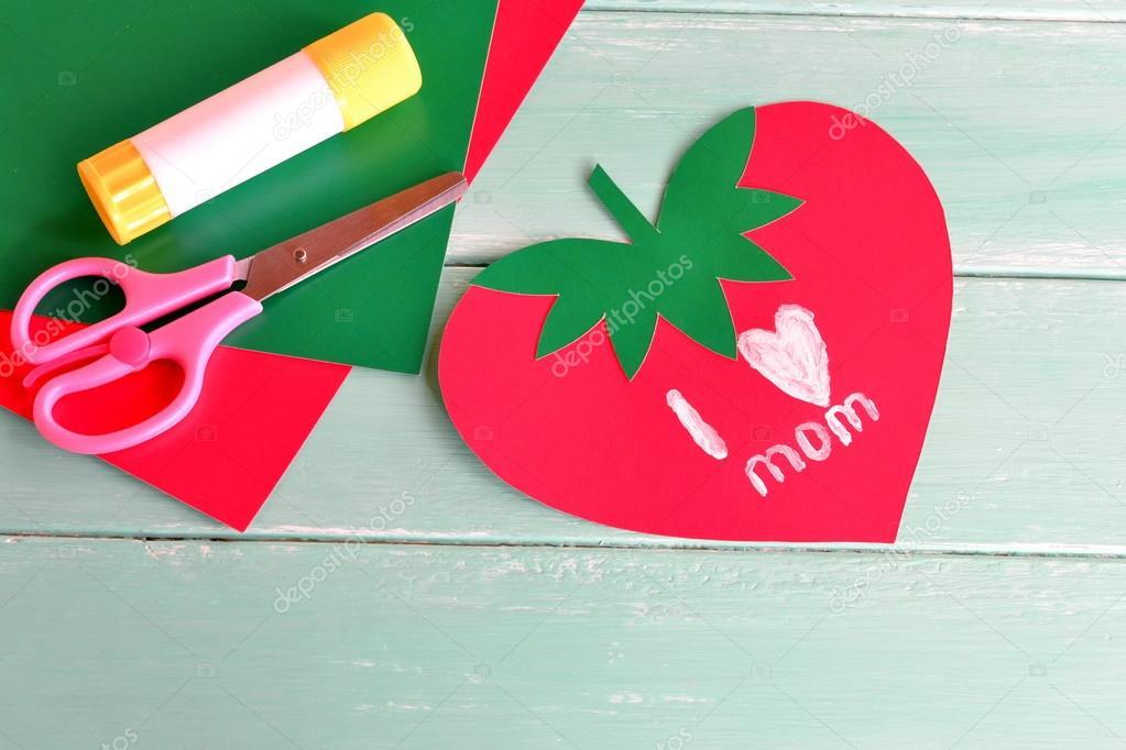Grusskarte Mit Worten Liebe Ich Mama Muttertag Grußkarte Zum