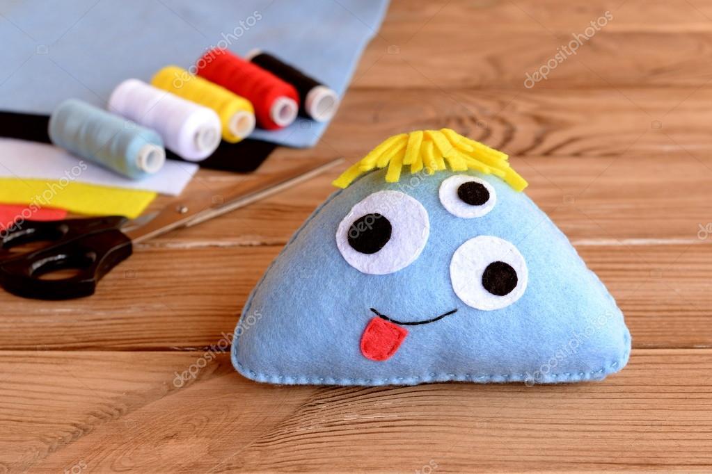 Niedlichen Filz Monster Spielzeug. Filz genäht Spielzeug für Kinder ...