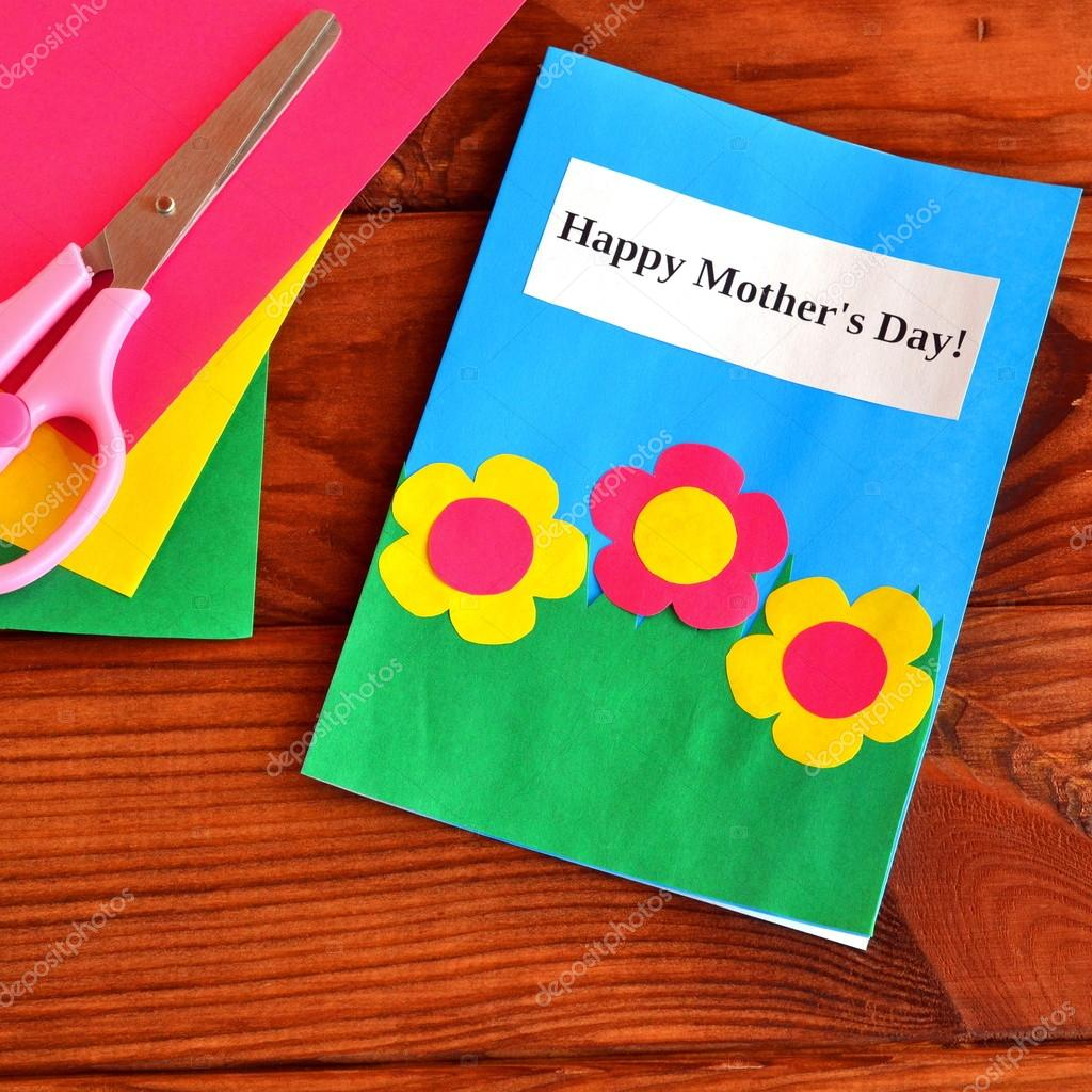Greeting card happy mother 39 s day easy children 39 s crafts - Manualidades faciles reciclaje ...