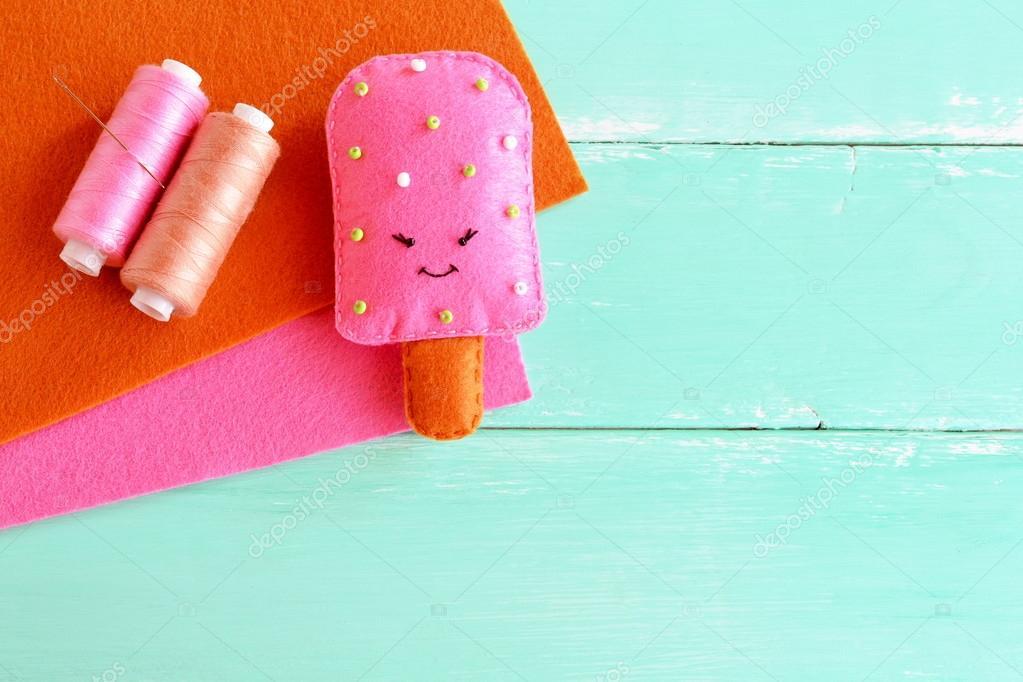 Entzückende Filz Eis Spielzeug. Filz spielen Essen Muster. DIY Filz ...
