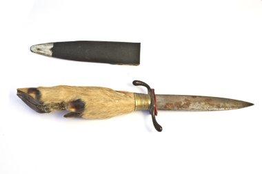 Hunting Knife with Deer Hoof as Handle