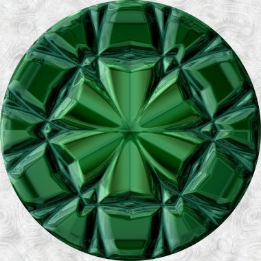 Green malachite orb