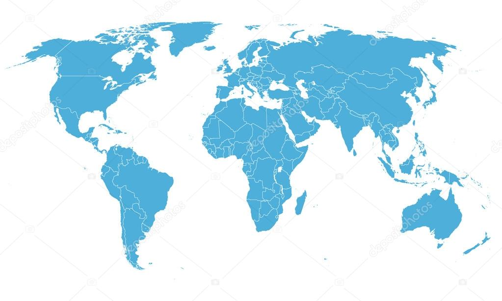 World simple map on white background stock photo gooddesign10 world simple map on white background stock photo gumiabroncs Image collections