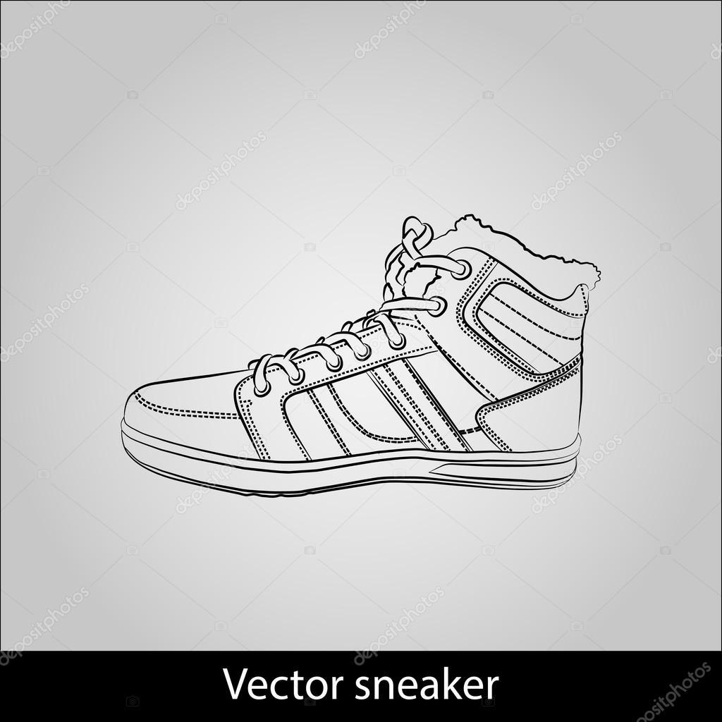 Animados Zapatos ContornoZapatilla Deporte De Dibujos 54Lq3jAR