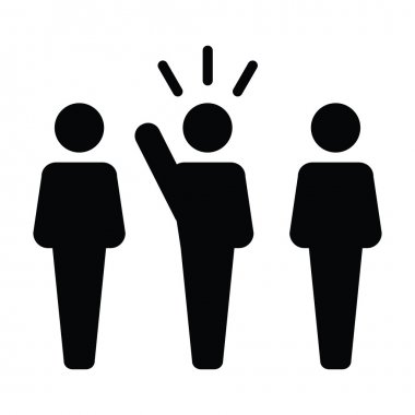 Leader Icon - Leadership, Boss, Politician, Management, Lead Icon in Glyph Vector illustration.