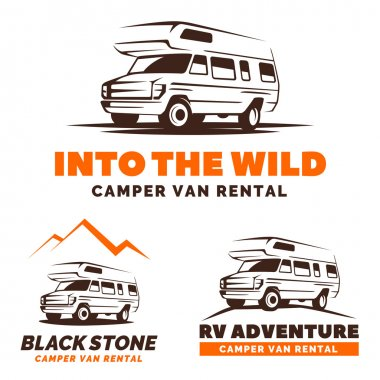 Recreational vehicles camper van logo.