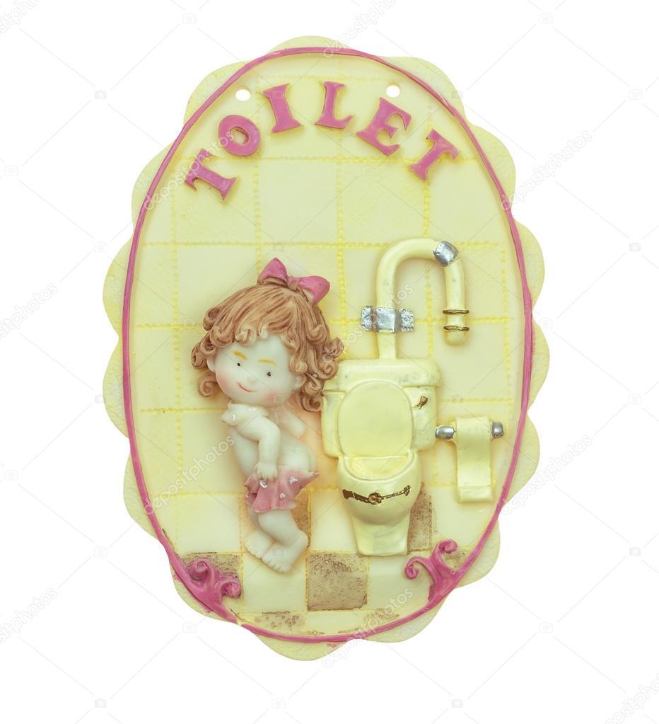 macro meisjes badkamer tekenen keramiek — Stockfoto © picstyle99 ...