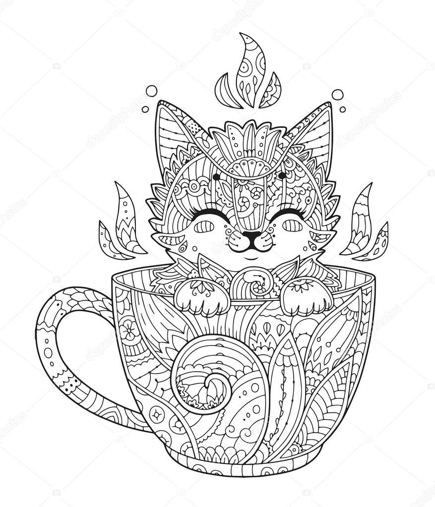katje in beker voor volwassen anti stressprogramma