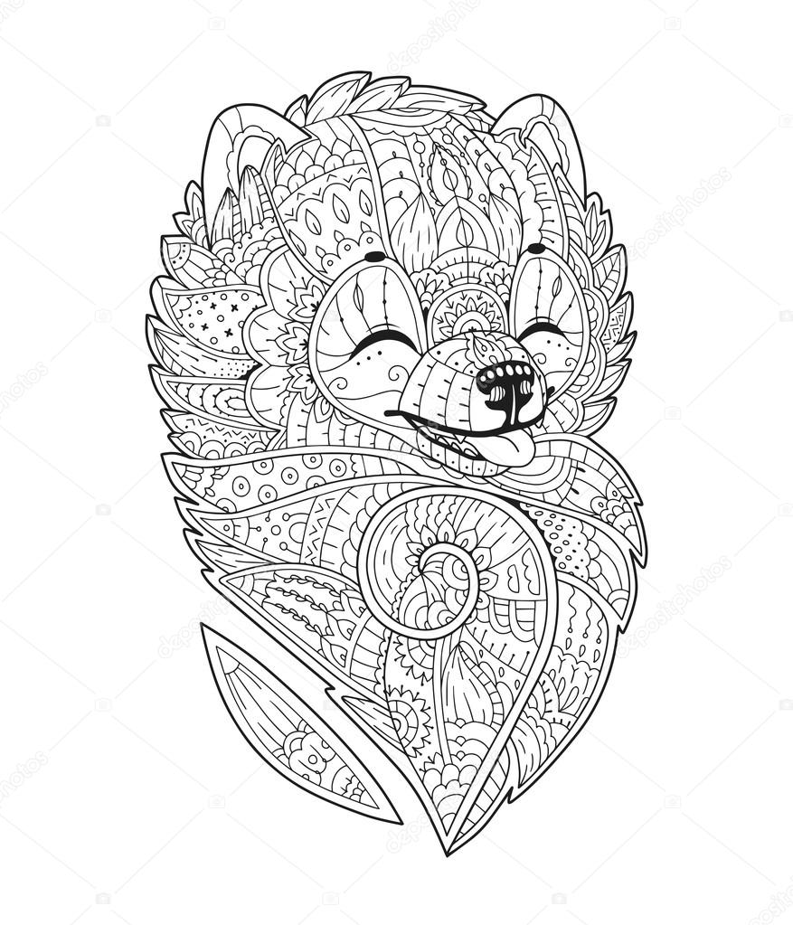 Zen art stylized dog