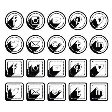 Black Shadow Social icons sets