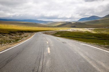 The winding mountain road.
