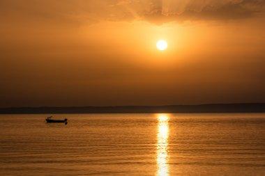Beautiful sunrise in Kalithea Chalkidiki (Halkidiki) Greece