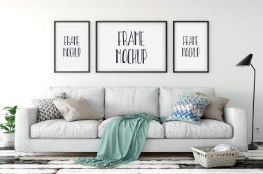 Frame mockup, Poster mock-up, Product Mockups, Canvas Mockup, Presentation art work, scandinavian style