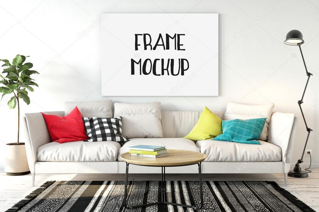 Frame Mockup Poster Mock Up Product Mockups Canvas Presentation Art