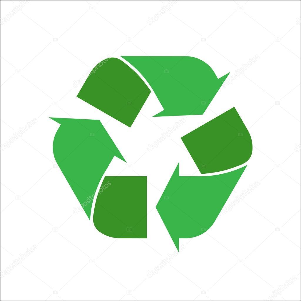 Beyaz Bir Arka Plan üzerinde Geri Dönüşüm Logosu Stok Vektör