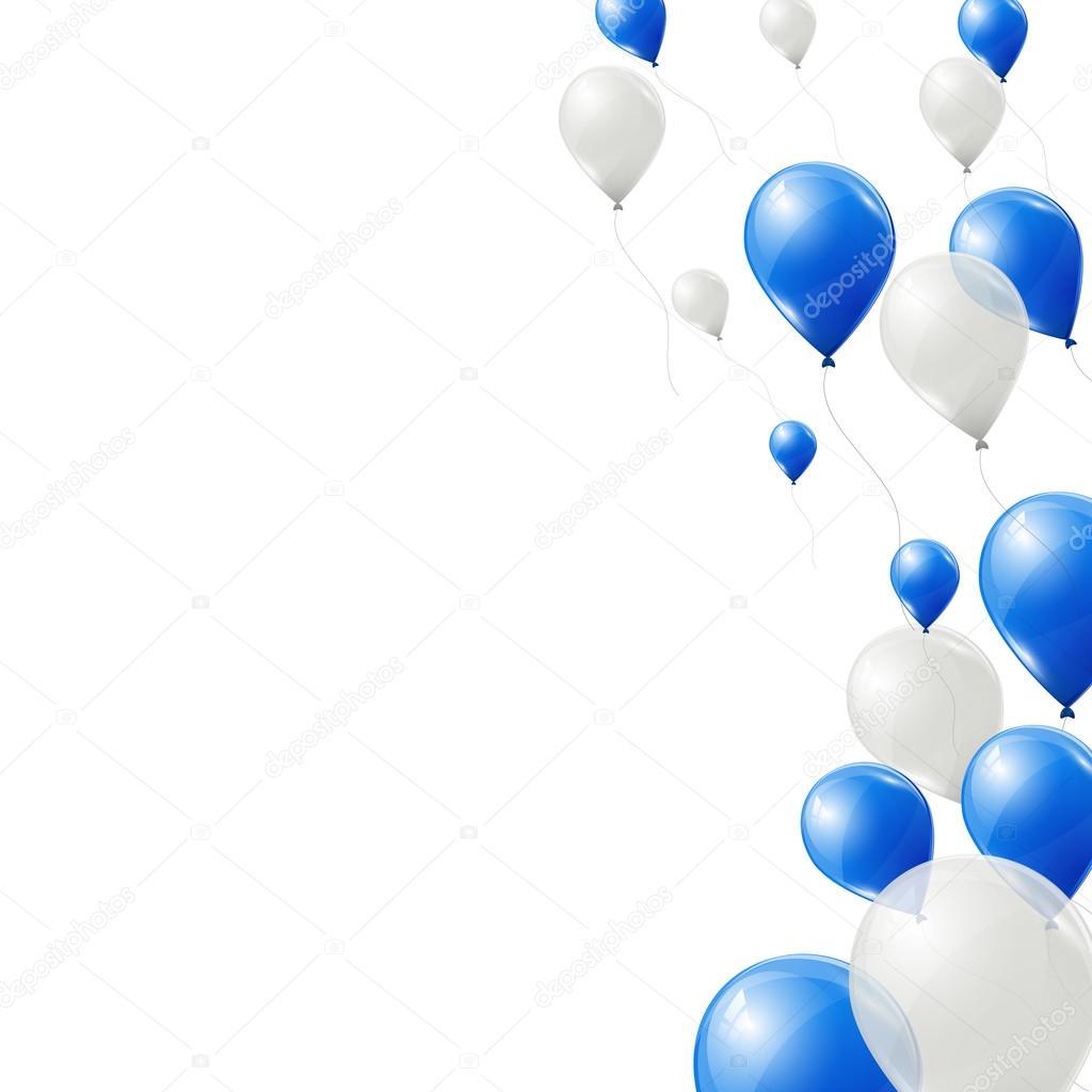 bal u00f5es azuis e brancos sobre fundo branco  u2014 vetores de