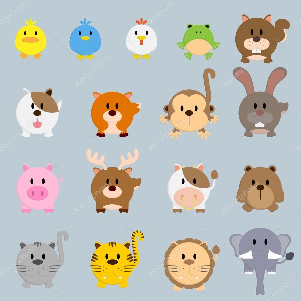 el círculo redondo dibujos animados color ilustración animales ...