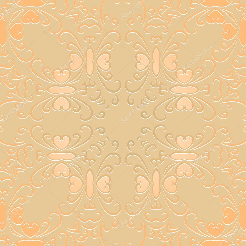 openwork pattern embossed vintage. Decor wallpaper under bright ...