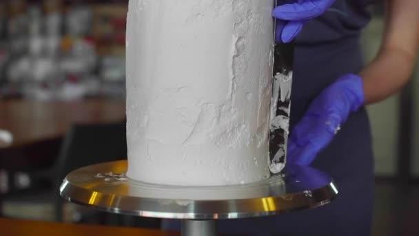 dort zdobení bílé šéfkuchař