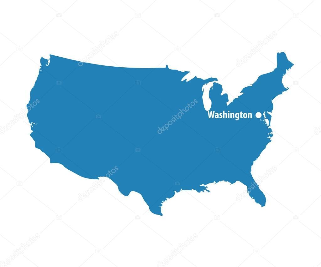 Capital City Of Usa Map on