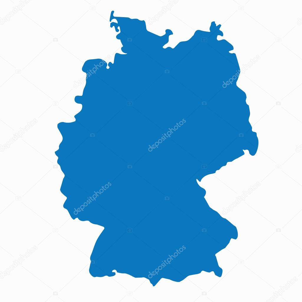 Blue Similar Germany Map Germany Map Blank Germany Map Vector - Germany map template