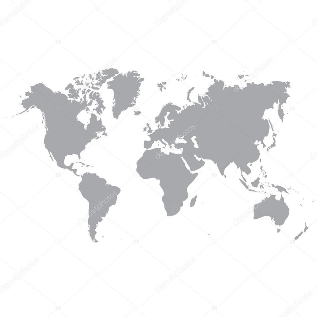 Gray world map world map blank world map vector world map flat gray world map world map blank world map vector world map flat world map template world map object world map businnes world map infographic gumiabroncs Gallery