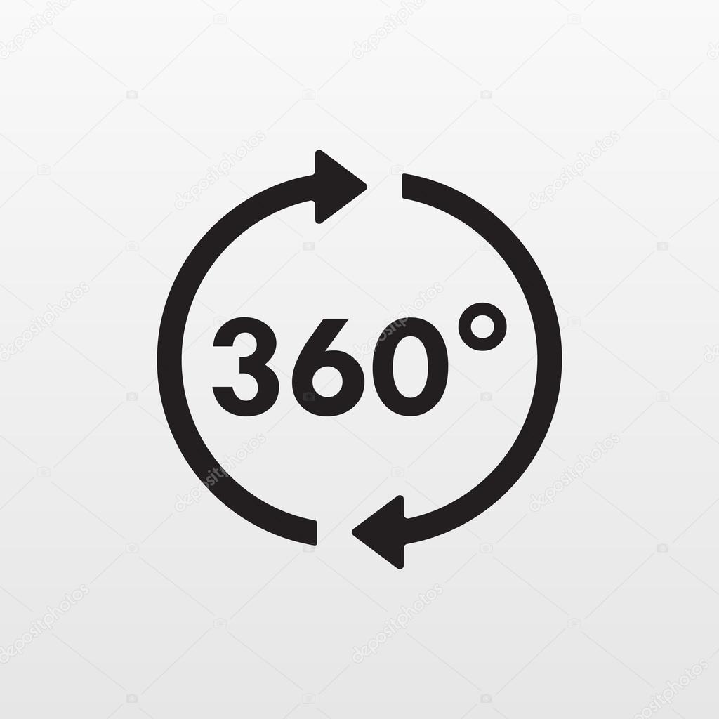 360 derece 360 simgesi 360 simgesi eps10 360 simge for Raumgestaltung 360 grad
