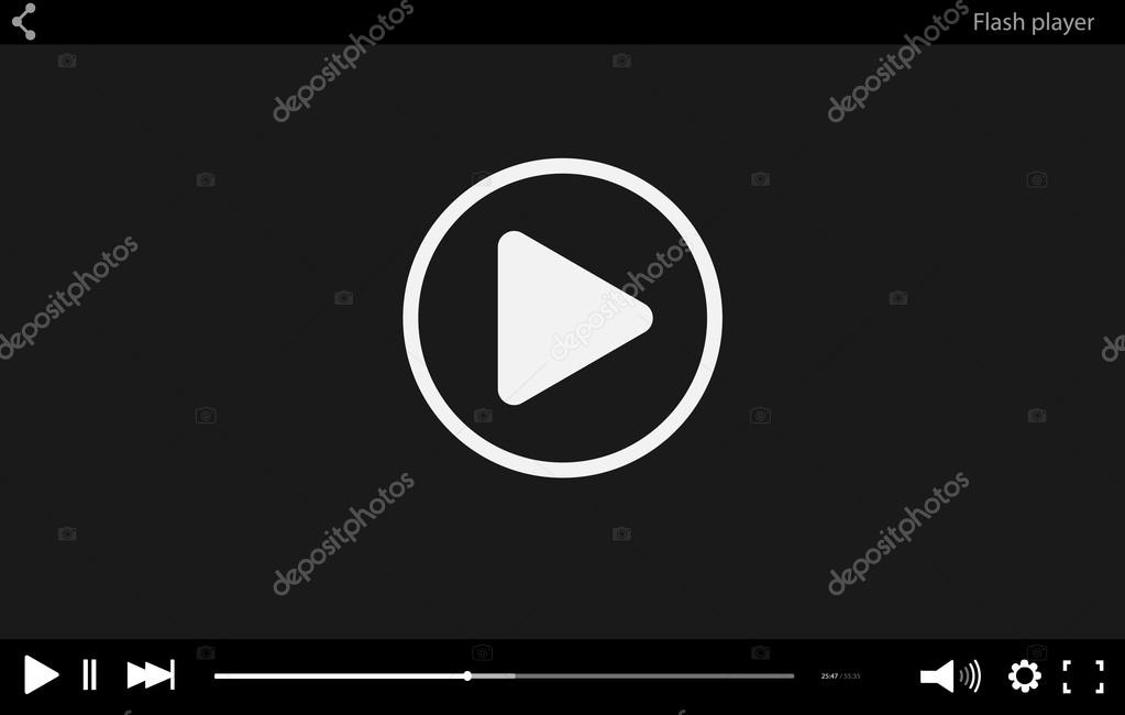 Flash player  Video Player  Video Player mockup  Video