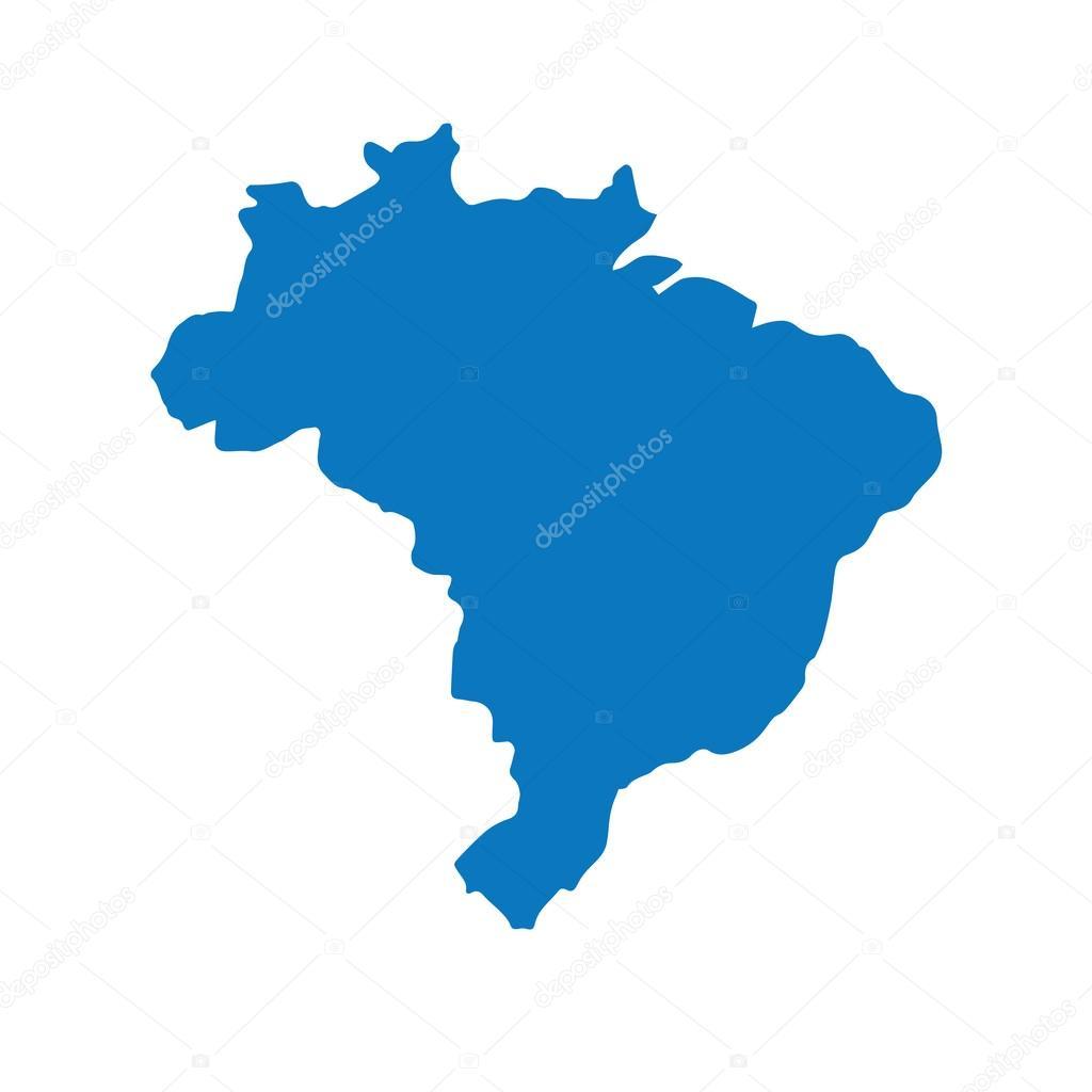 Map of Brazil vector illustration — Stock Vector ...