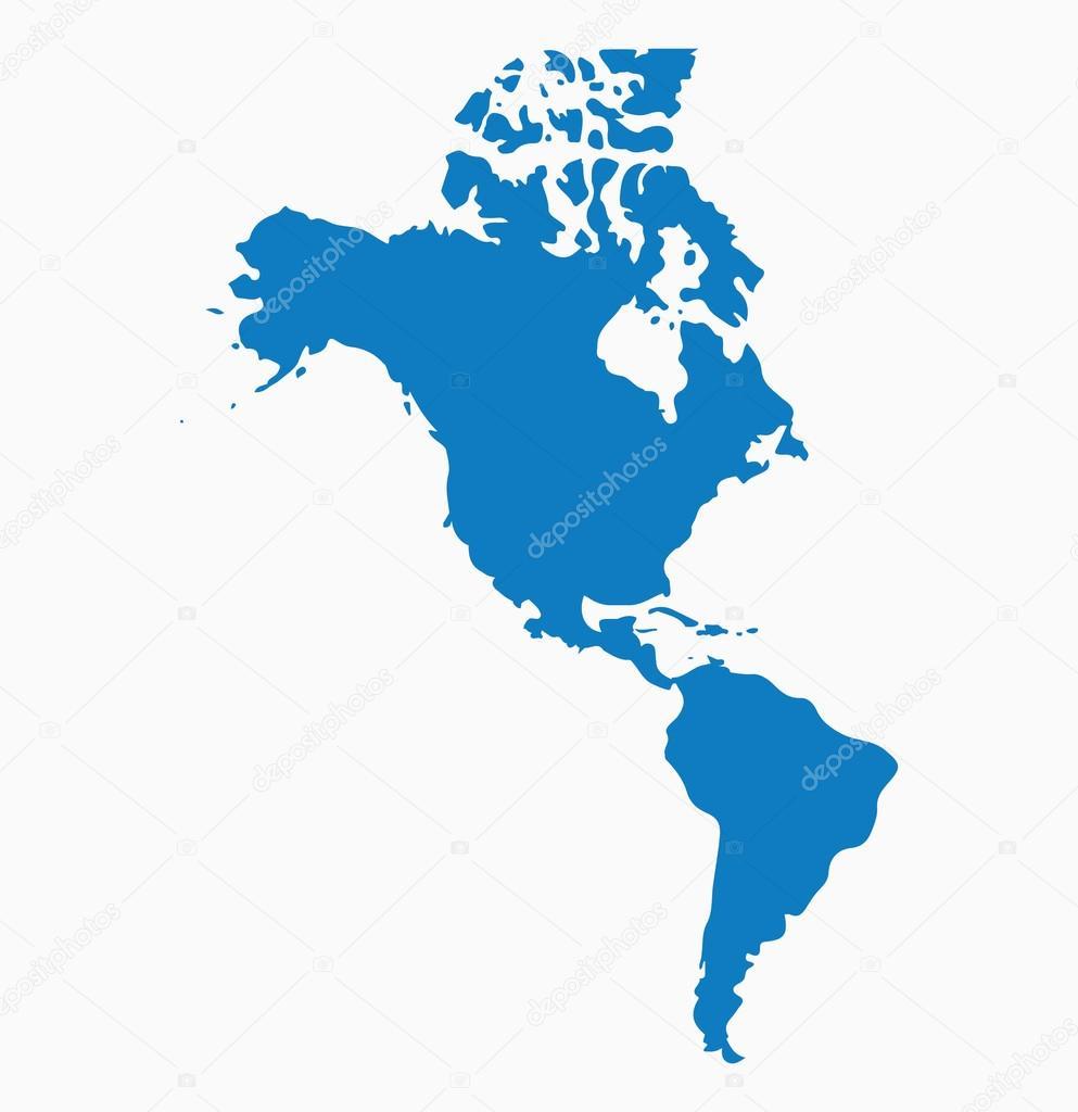 Karte Südamerika Und Nordamerika.Nordamerika Und Karte Von Südamerika Stockvektor Vectoreps10