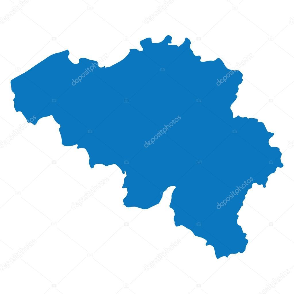 Blue similar Belgium map. Belgium map blank. Belgium map vector ...