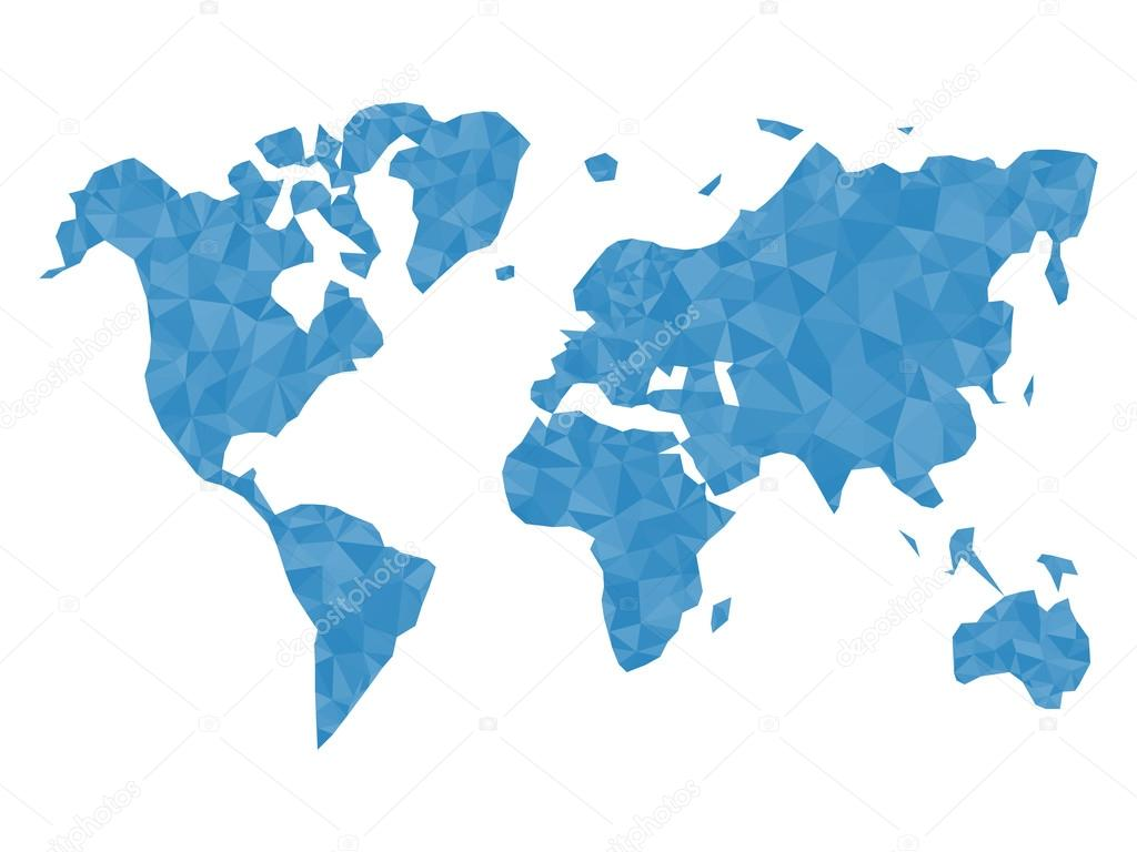 Blue polygonal world map world map triangle world map vector blue polygonal world map world map triangle world map vector world map flat world map template world map object world map eps world map infographic gumiabroncs Image collections