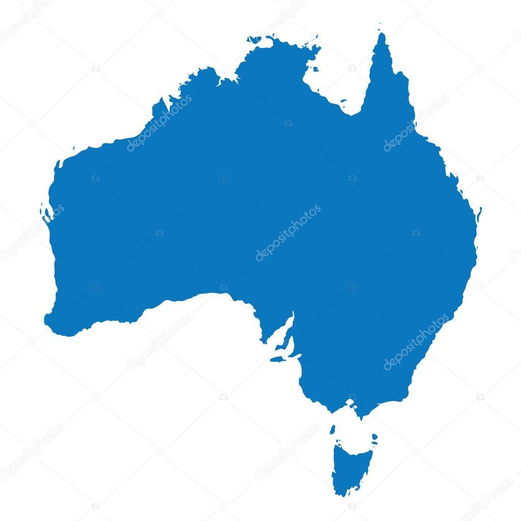 Australia Map Vector Ai.Blue Similar Australia Map Australia Map Blank Australia