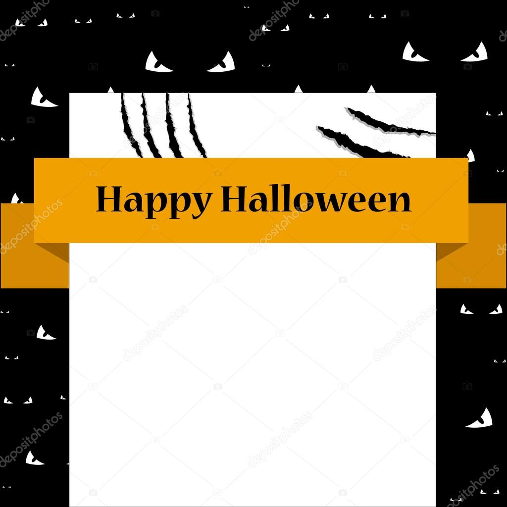bank sign card with scratches halloween template brochure flyer