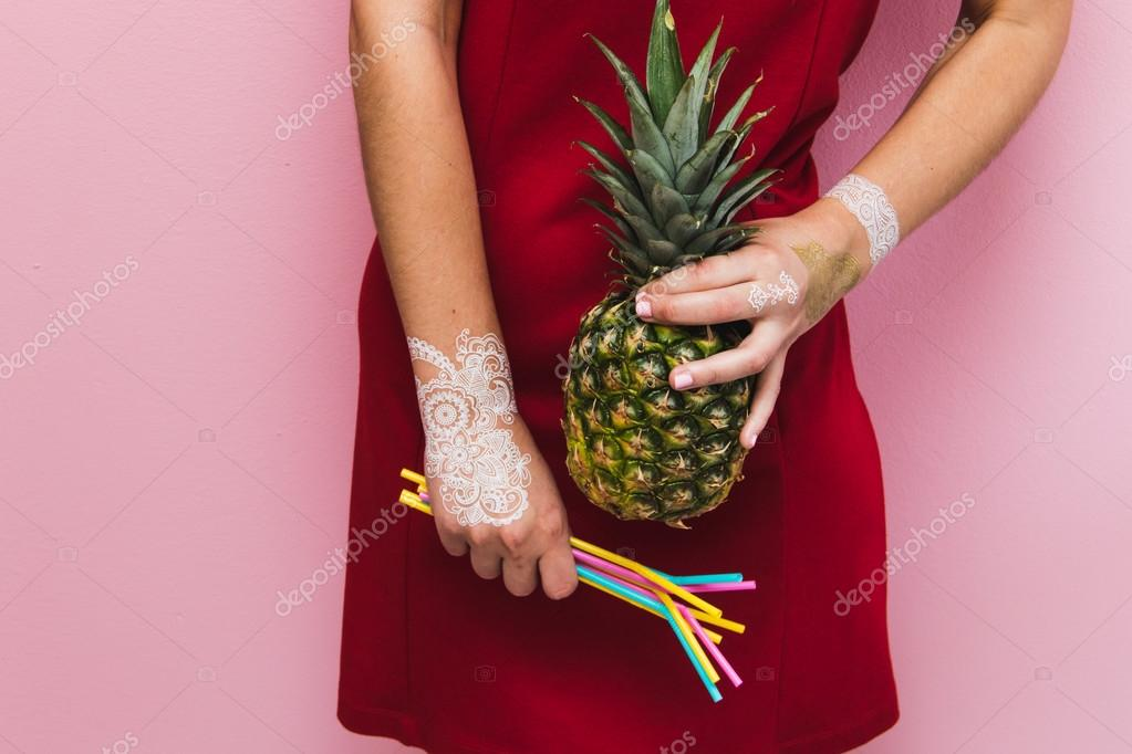 party stuff in girl's hands