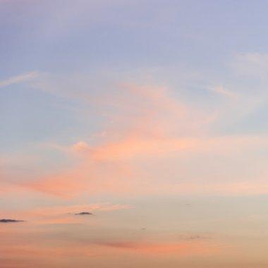 Orange pastel clouds