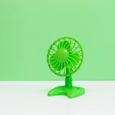 green desktop ventilator